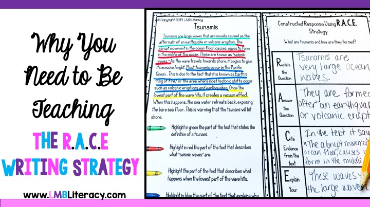 why you need to be teaching the r a c e writing strategy