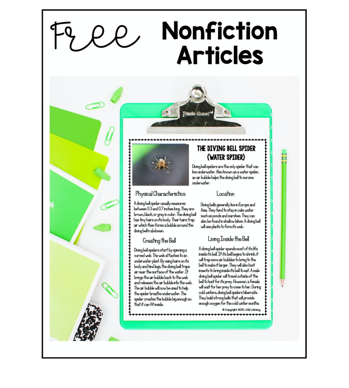 Nonfiction Articles Freebie